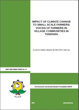 IMPACT OF CLIMATE CHANGE TO SMALL SCALE FARMERS: VOICES OF FARMERS IN VILLAGE COMMUNITIES IN TANZANIA